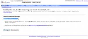Google Apps - Domänenverifizierung via HTML-Datei