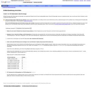 eMail für Google Apps aktivieren durch anlegen/ändern von MX-Einträgen